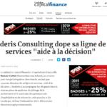 Oderis Consulting dope sa ligne de services «aide à la décision»