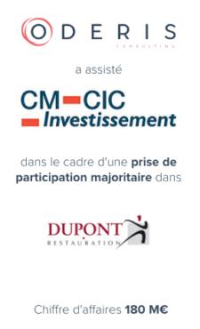 CM-CIC Investissement – Dupont Restauration