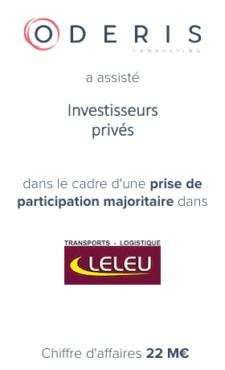Investisseur Privé – Transports Leleu
